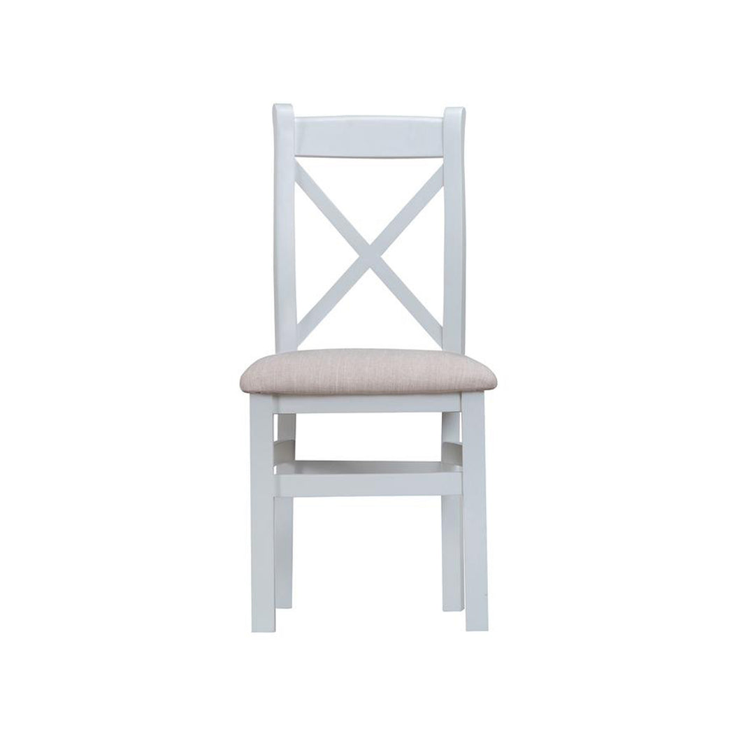 Toronto Cross Back Chair Fabric Seat - Grey