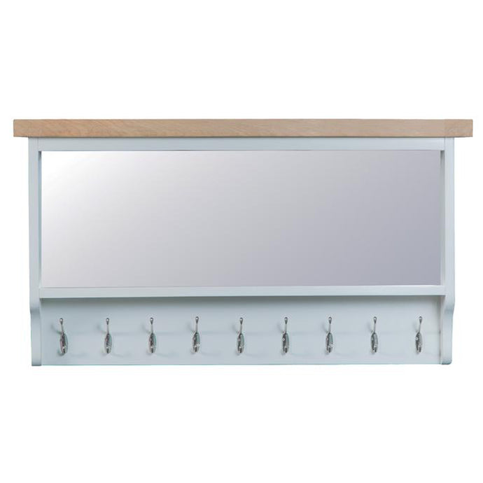 Toronto Large Hall Mirrored Bench Top - Grey