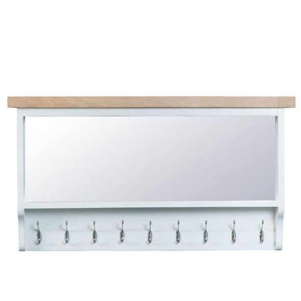 Toronto Large Hall Mirrored Bench Top - White