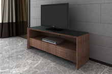 Elite High Gloss Large TV Unit - Walnut