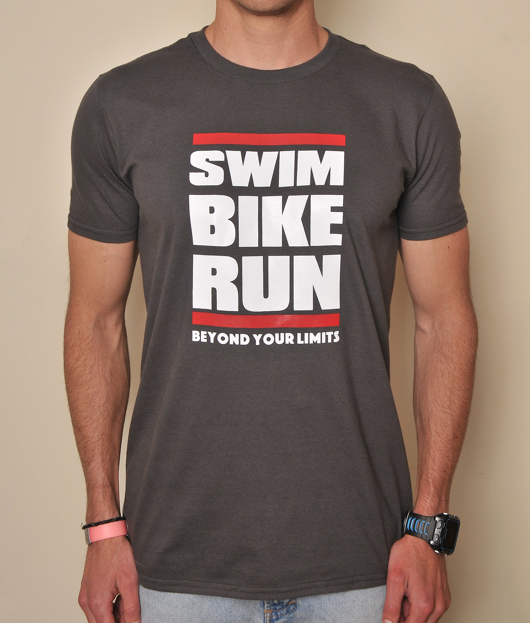 POLERA SWIM.BIKE.RUN BEYOND YOUR LIMITS