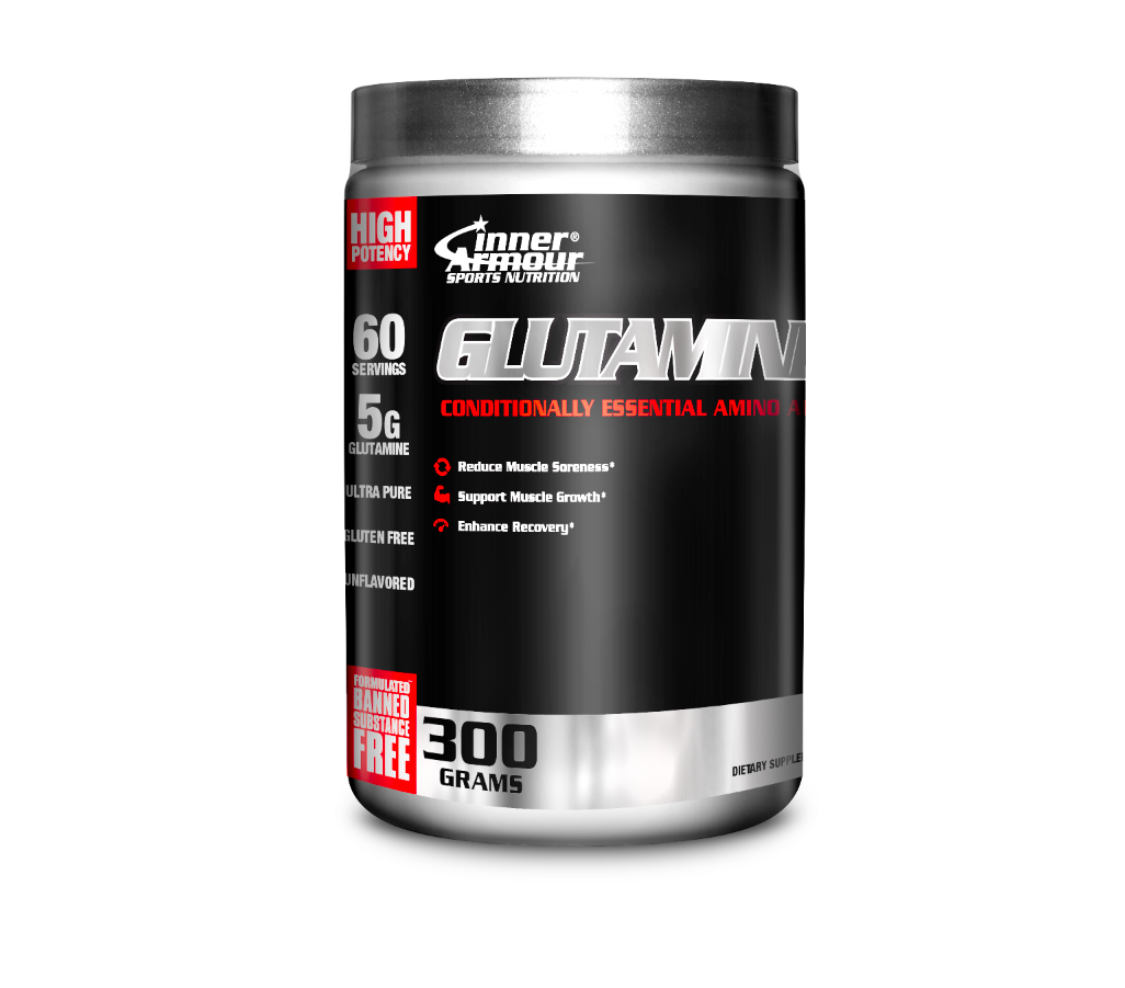 GLUTAMINA INNER ARMOUR GLUTAMINE BLACK EDITION (60 SERVICIOS)