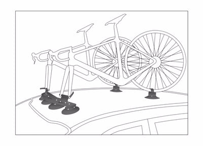 RACK DE BICICLETA DOBLE PARA AUTO LION BIKE