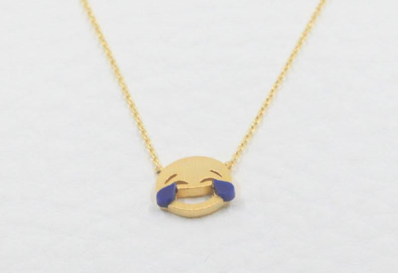 Emoji Necklace Laughing with tears MUMBO Jewelry