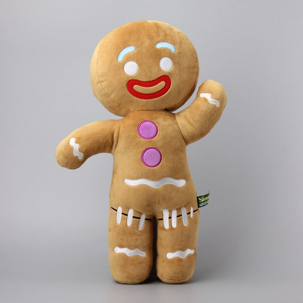 Large Size 48 CM Shrek Gingerbread Man Bigheadz  Stuffed Plush Toys Cartoon Soft  Dolls Children Gift