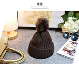 Children Winter Fake Fur Ball Hat