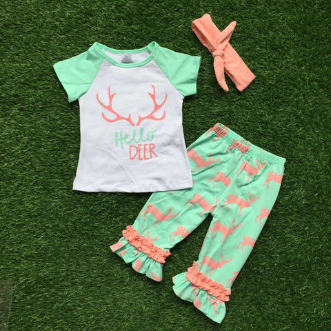 baby girls summer reindeer set