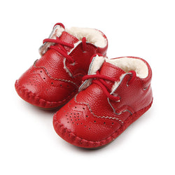 New Arrival High Quality Handmade TPR Sole Genuine Leather Baby Toddler Boy Girl Spotrs Shoes 0-18 Months