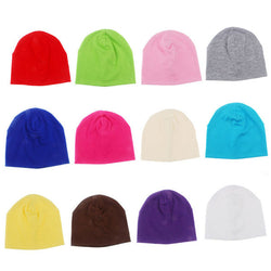New Spring Autumn Cotton Baby Hat Brand Candy Color Boy Girl Infant Caps Newborn Baby Beanies Two Sizes 10pcs SW050