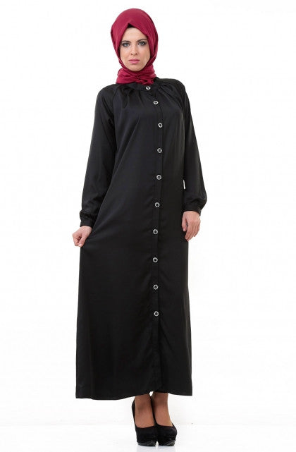 Abaya long chic Huma sultan noir 9500-10