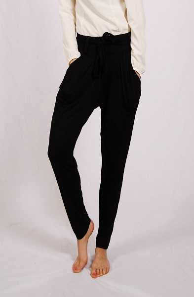 Pantalon sarouel chic et fluide Sultana Collection-Noir 3010-01