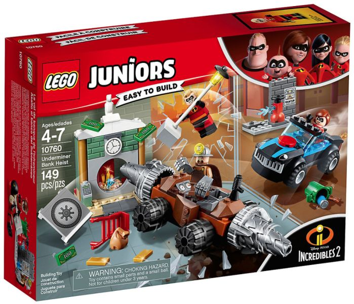 LEGO Juniors 10760: Underminer Bank Heist. Retired product. Lightly used.