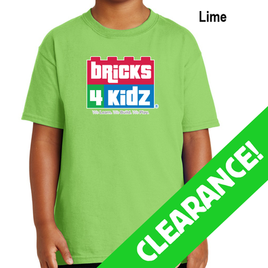 CLEARANCE - Lime Green Short Sleeve Bricks 4 Kidz T-Shirt