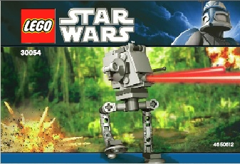 Lego Star Wars Episode 4/5/6: 30054 AT-ST - Mini Polybag. 2011. Preowned.