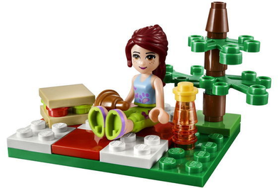 LEGO Friends: 308108 Summer Picnic. Includes Friends Mia. 2013.