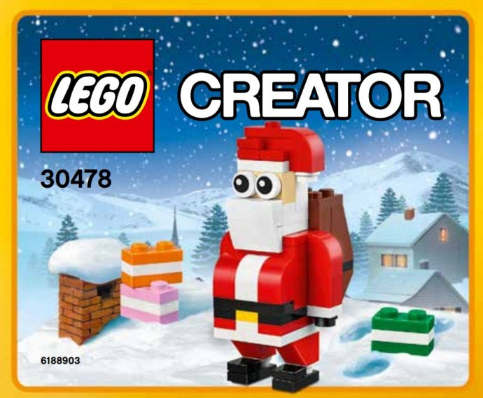 LEGO Creator: Christmas: 30478 Santa Claus. 2017. New. Sealed polybag.