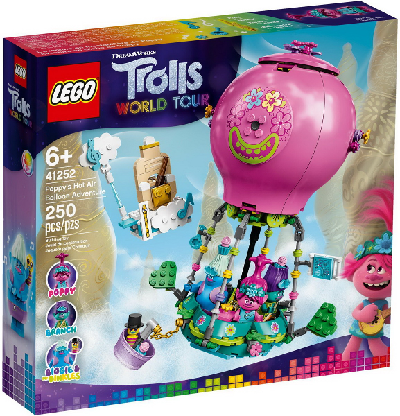 LEGO Trolls World Tour 41252 Poppy's Hot Air Balloon Adventure. 2020. Opened.