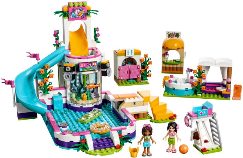 LEGO Friends 41313 Heartlake Summer Pool. Complete with instructions. Preowned. 2017.