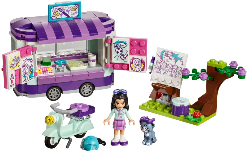 LEGO Friends: 41332 Emma's Art Stand. 2018. Includes instructions, but not box.