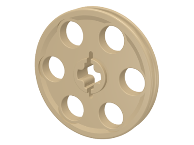 LEGO 4185 Technic Pulley, Tan. Pkg of 4. New.