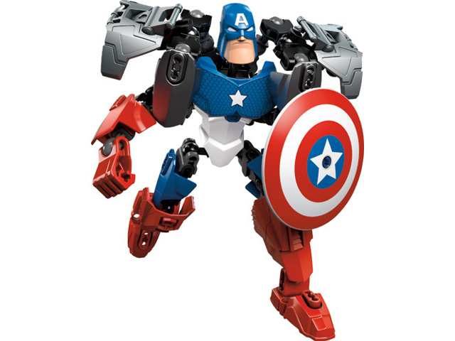 LEGO Super Heroes: Buildable Figures: 4597 Captain America. 2012. Preowned.