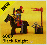 Castle: Black Knights: 6009 Black Knight. 1992. Complete with instructions. Preowned.