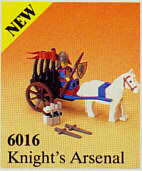 LEGO Castle: Lion Knights. 6016 Knights' Arsenal. 1987. Preowned.