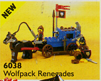 LEGO Castle: Wolfpack: 6038* Wolfpack Renegades. 1992. Preowned. Vintage! Minifigs not included.