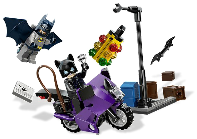 LEGO Superheroes: Batman II: 6858 Catwoman Catcycle City Chase. 2012. Preowned.