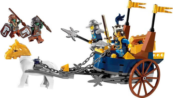 LEGO Castle: Fantasy Era: 7078 King's Battle Chariot. 2009. Preowned.