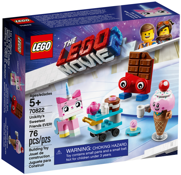The LEGO Movie 2: 70822 Unikitty's Sweetist Friends Ever. 2019. Preowned like new.