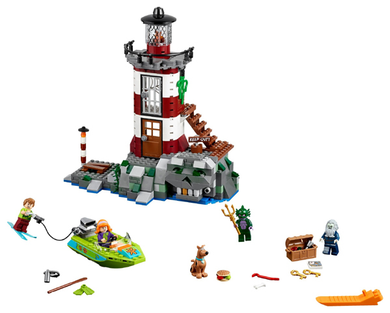 75903 Scooby-Doo! Haunted Lighthouse, 437 pcs, preowned, complete.