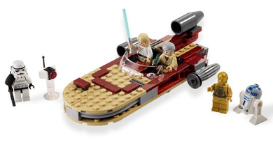 LEGO Star Wars Episode 4/5/6: 8092 Luke's Land Speeder. 2010. Preowned.