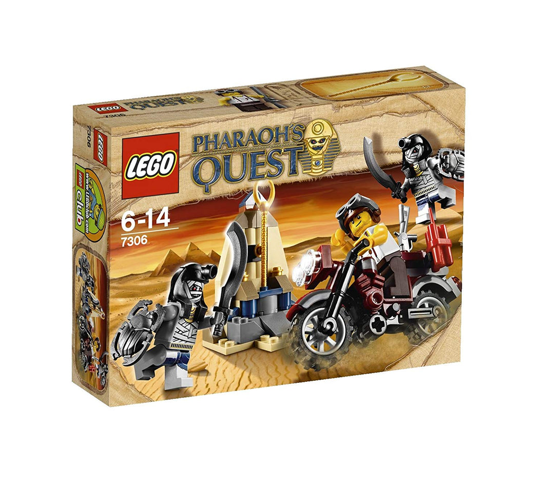 LEGO Pharoah's Quest: 7306* Golden Staff Guardians. 2011. Preowned. *Missing 1 mummy minfig (except headgear).