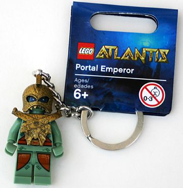 LEGO Key Chain: Atlantis: 852907 Portal Emperor Key Chain. 2010. New.
