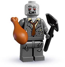 LEGO Collectible Minifigure: col01-5 Zombie.  Series 1-5. 2010. New.