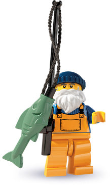 LEGO Collectible Minifigure: col03-1 Fisherman. Series 3-1 (2011). Like new.