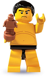 LEGO Collectible Minifigure: col03-7 Sumo Wrestler. Series 3-7 (2011). Like new.