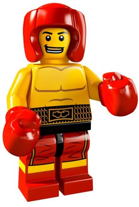 LEGO Collectible Minifigure: col05-13 Boxer. Series 5-13 (2011). Like New.