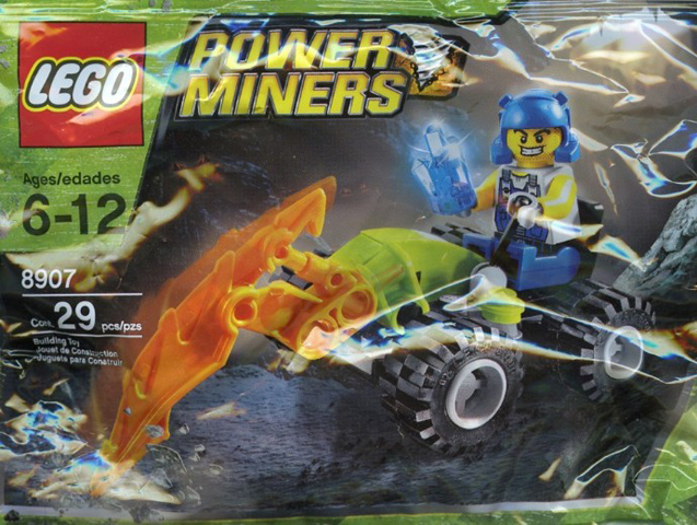 LEGO Power Miners: 8907 Rock Hacker. 2009. Rare. Preowned.