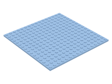 LEGO 16 x 16 Plate | Bright Light Blue