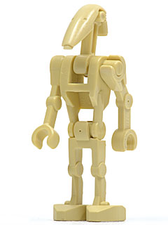 LEGO Star Wars minifig : sw001c Battle Droid with one straight arm.