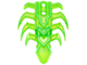 Bionicle Spine Armor with 8 ribs, trans green, 20473