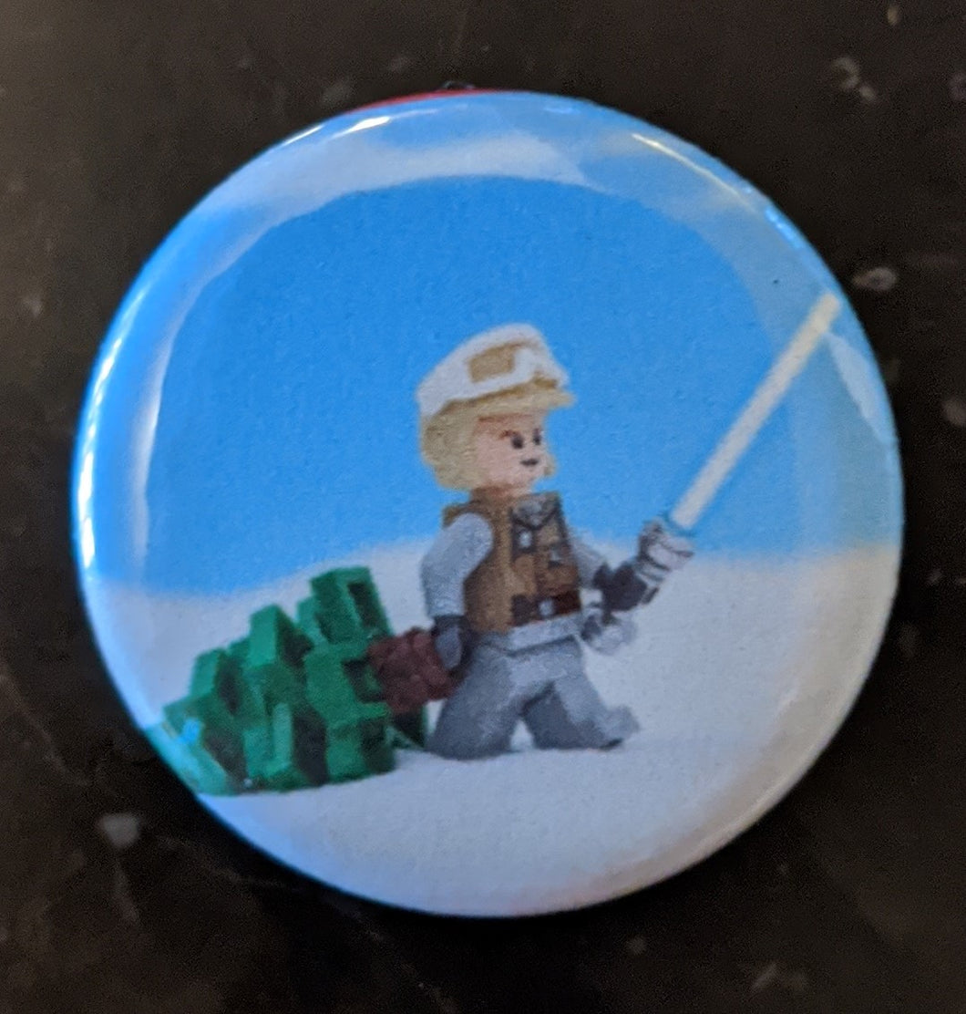 Button/Pin: Star Wars Luke Skywalker Button/Pin, New.