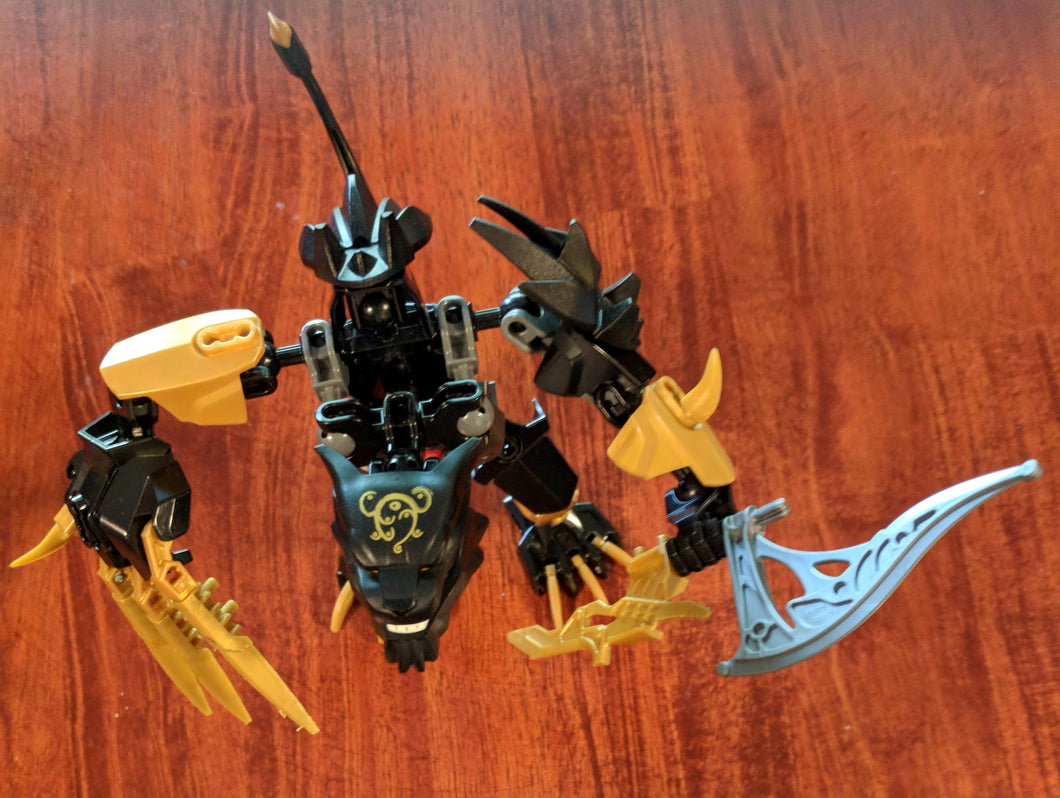 LEGO Legends of Chima: CHI Panthar, modified 70208 (2014). Retired. Preowned.
