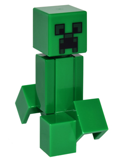 Minecraft LEGO Minifigure: min012 Creeper. Preowned.
