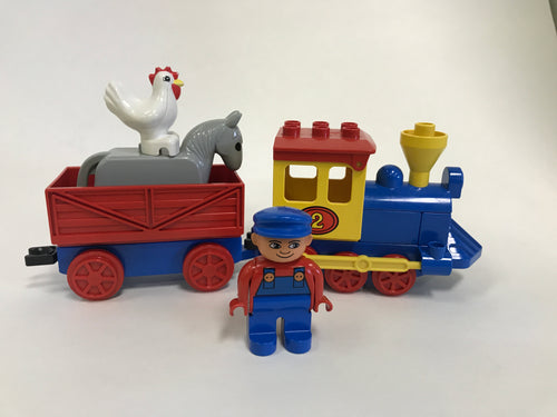 2706 Duplo Barnyard Express Train (1988). Rare. Vintage. Preowned.