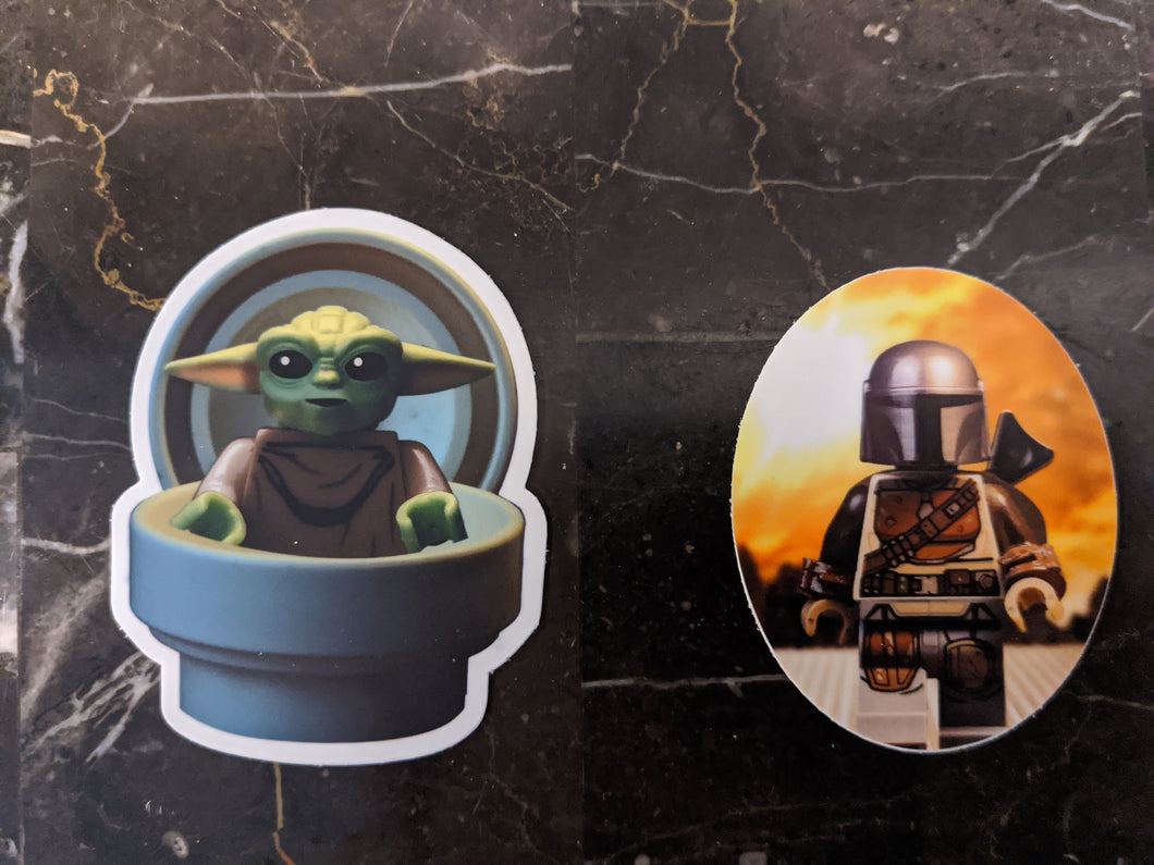 Mandalorian Sticker 2 pack