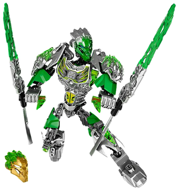Bionicle: Lewa Uniter of Jungle 71305-1 (2016) 77 out of 79 pcs. Preowned.