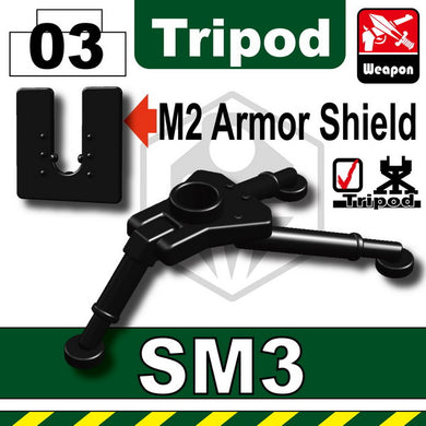 Sidan Toys: M2 Machine Gun, Sealed Polybag, 8 pcs. Plus SM3 Tripod, sealed polybag, 5 pcs.